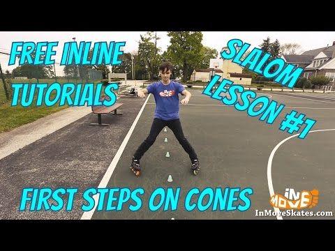 Beginner slalom on inline skates - lesson 1 - YouTube