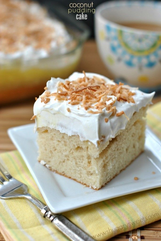Coconut Pudding Poke Cake...easy and delicious.