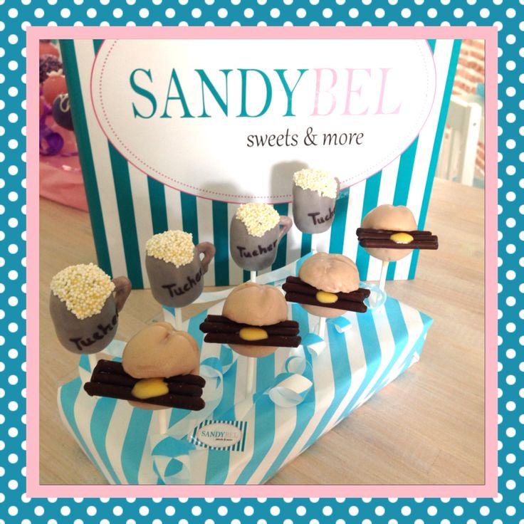 3 im Weckla und a Bier....nur halt mal in süß  #cakepops #sandybel #sweets #nürnberg #3imweckla #bier #fränkisch