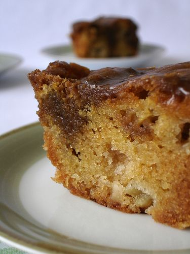 apple cake with toffee crust recipe...