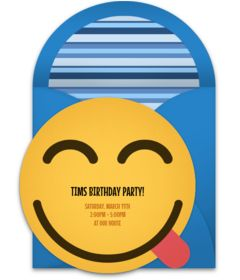Customizable, free Yum Emoji online invitations. Easy to personalize and send for a party. #punchbowl