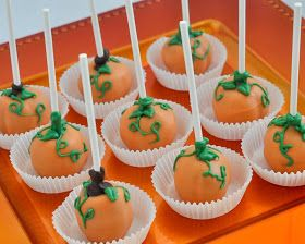 Beki Cook's Cake Blog: Pumpkin Cake Pops - Upside Down