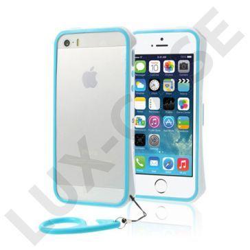 AluPro (Blå/Hvit) iPhone 5/5S Aluminium Bumper
