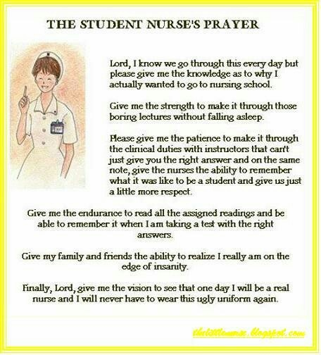 The student nurse prayer #student #nursing #nurse