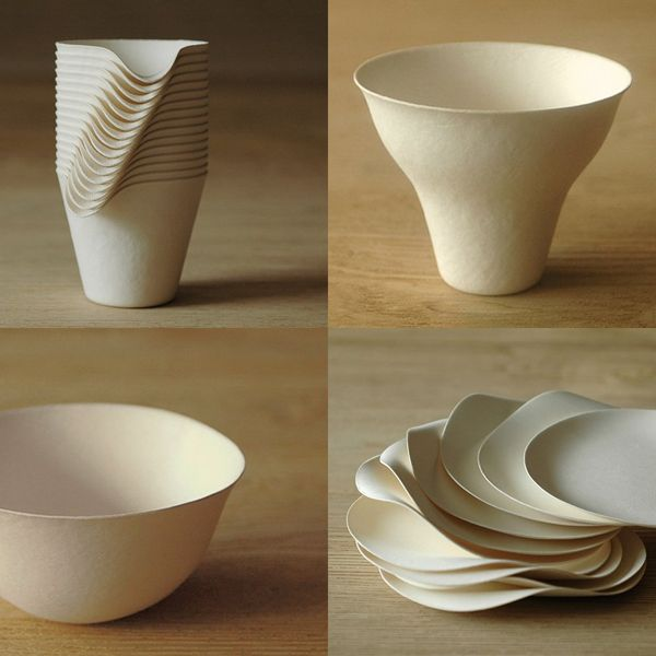 Wasara is a series of stylish yet sustainable disposable, eco-friendly tableware.