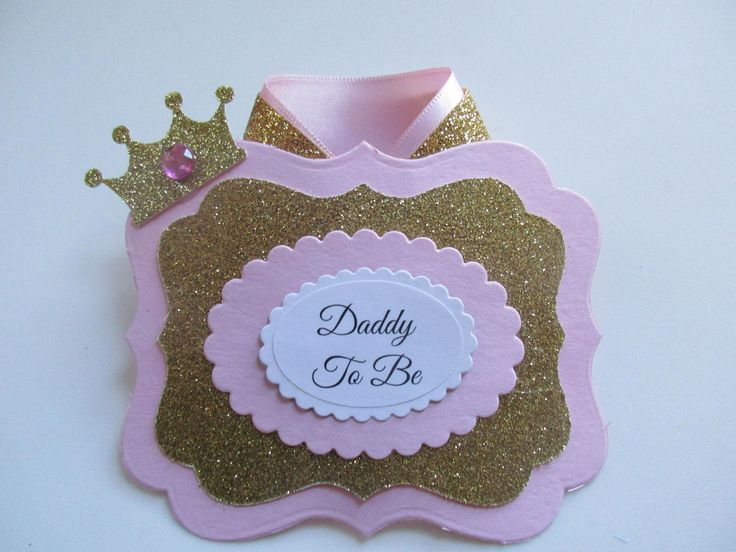 Pink and Gold Princess DaddyTo Be Corsage,Baby Girl Corsage,Mommy To Be Baby Shower Corsage, Baby Shower Corsage, Baby Shower Badge, by SHELOVESGLITZ on Etsy