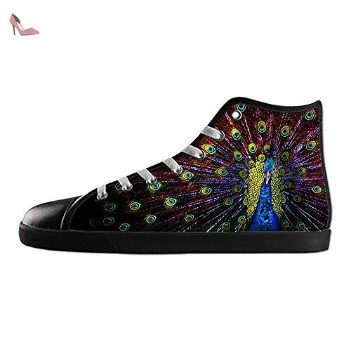 Dalliy beau paon Women's canvas Footwear Sneakers Shoes Chaussures de toile Baskets - Chaussures dalliy (*Partner-Link)