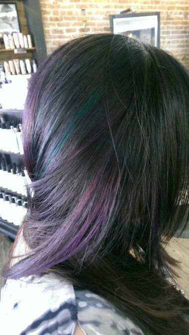Purple and Teal highlights.