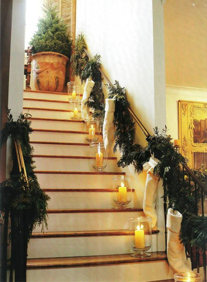 17 mejores imágenes sobre christmas staircase decorating ideas en ...
