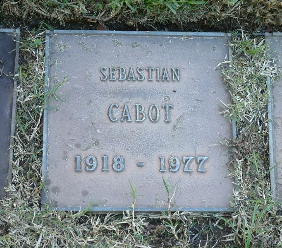 Sebastian Cabot Gravesite   Cause of death a stroke. Buried in Westwood Memorial Park in LA, CA