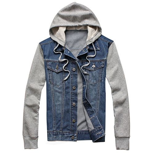17 Best ideas about Hooded Denim Jacket Mens on Pinterest | Black ...