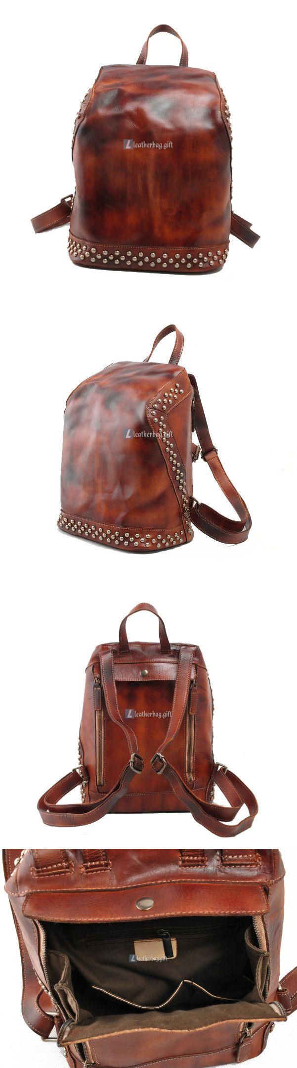 $176.56 Vintage Leather Backpack for Men Stylish Backpacks