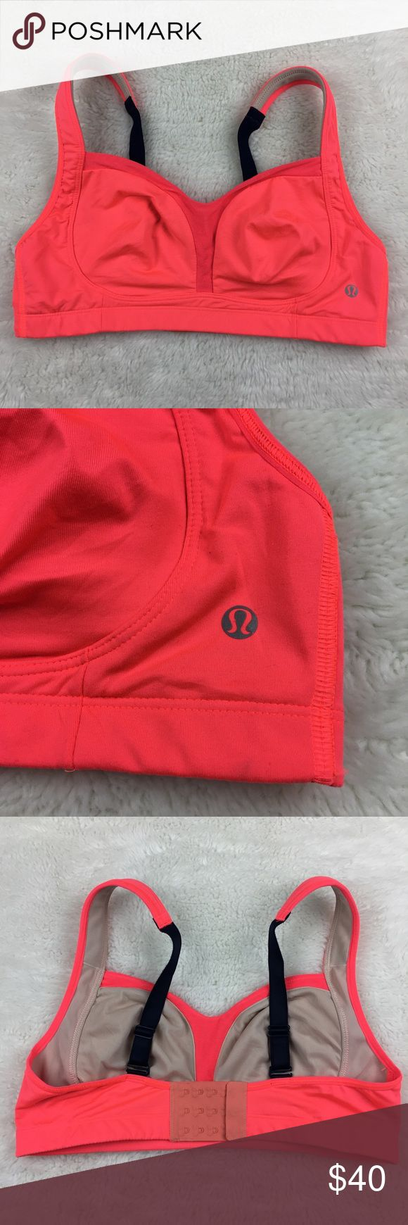 Lululemon Ta Ta Tamer Orange Sports Bra size 36C Pre-owned authentic Lululemon Ta Ta Tamer Neon Orange Sports Bra size 36C. Excellent condition. Please look at pictures for better reference. Happy Shopping! lululemon athletica Intimates & Sleepwear Bras