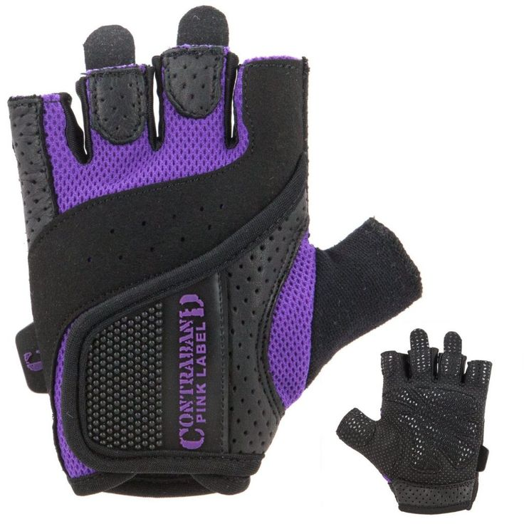 Contraband Pink Label 5137 Womens Weight Lifting Gloves with Grip-Lock Padding