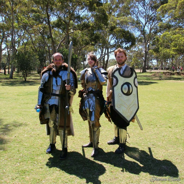 Shining Knights at the Battle of Bannockburn Weekend Festival, in Victoria, Australia. Food, music, battles, ancient crafts and stalls. Held in October