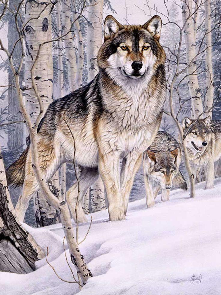 цветные картинки волки создание скульптуры