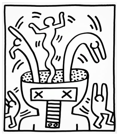 Explosive Figures I by Keith Haring https://artsation.com/en/shop/keith-haring