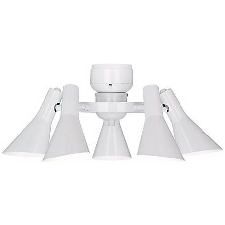 Modern Ceiling Fan Light Kit in White