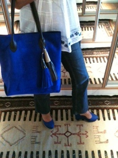 Look of the day!! Electric blue!