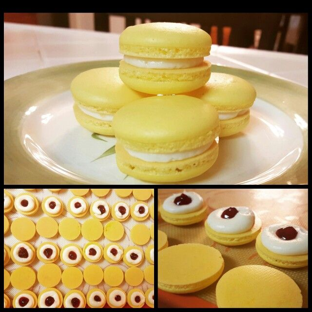Lemon Raspberry French Macarons