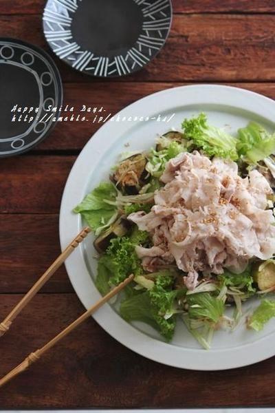 揚げ茄子の豚しゃぶサラダ。 by 柳川かおりさん | レシピブログ - 料理 ...