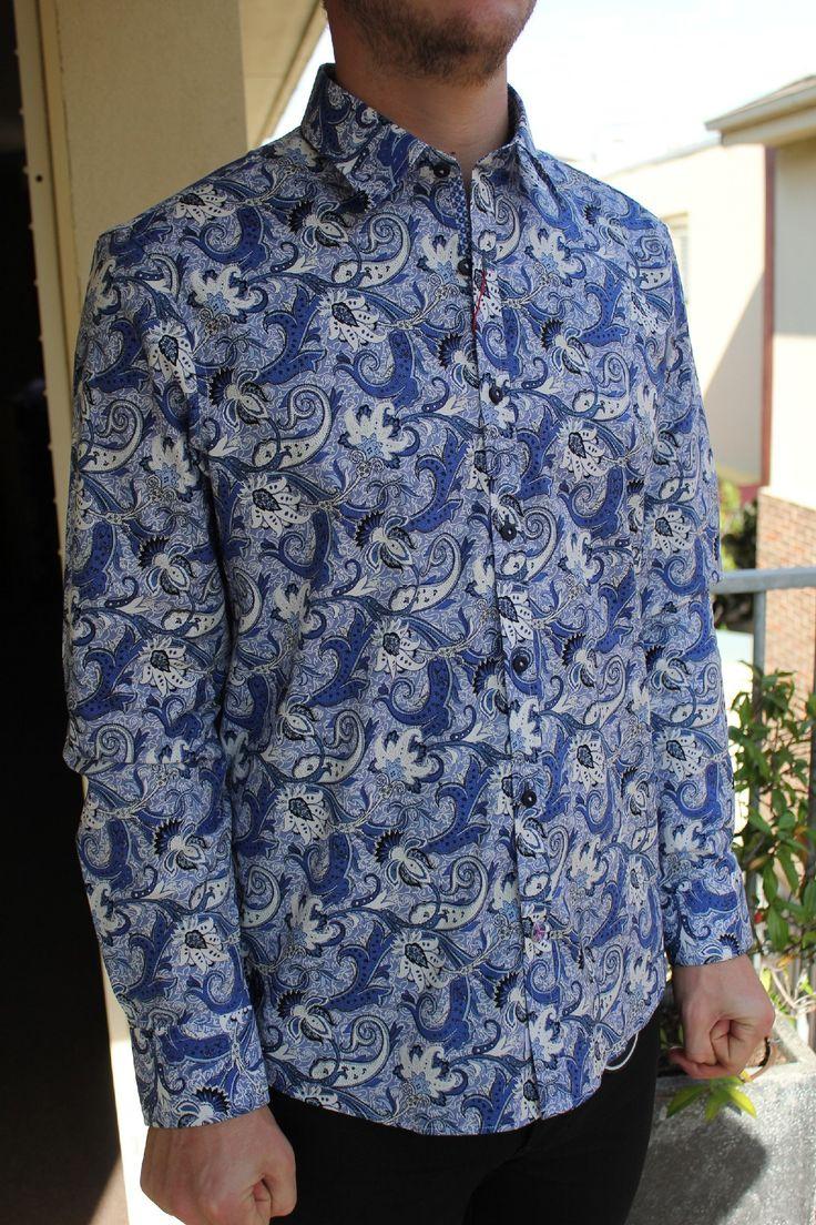 english laundry - John Lennon Ticket To Ride Paisley Shirt