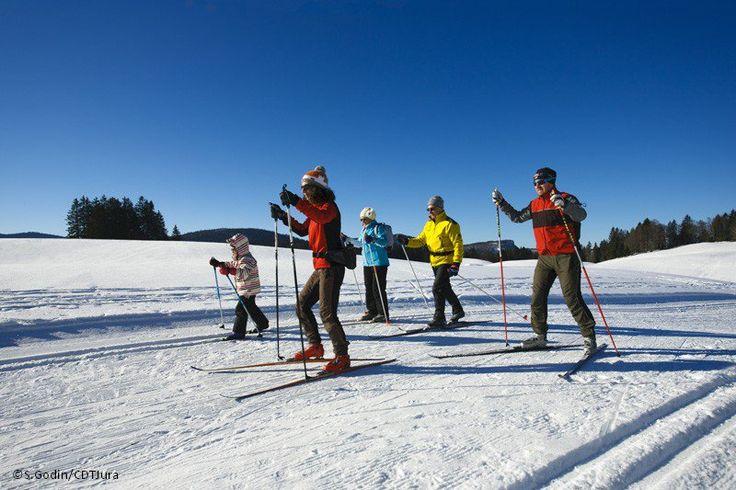 Près de 420 km de pistes de ski de fond tracés sur la Station des Rousses   Jura, France   Photo Stéphane Godin/Jura Tourisme   #JuraTourisme
