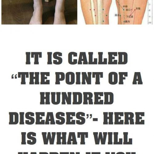 """IT IS CALLED """"THE POINT OF A HUNDRED DISEASES""""- HERE IS WHAT WILL HAPPEN IF YOU MASSAGE IT EVERY DAY!"""