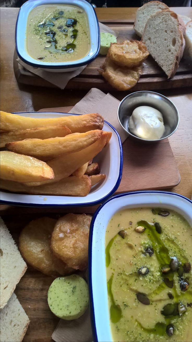 Soup & Fries. Fancie, Sheffield.