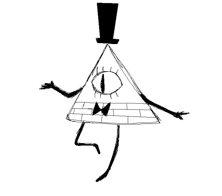 bill gravity falls coloring pages - photo#12
