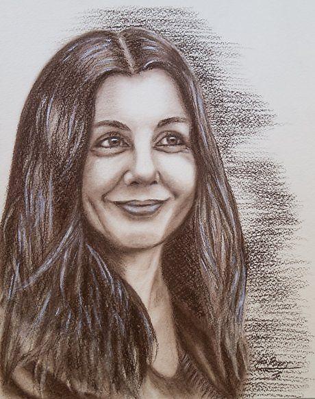 Алена - Изобразительное искусство - Сангина