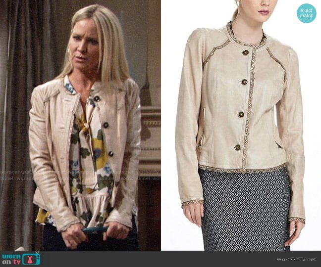 9ce86914d92f0b Sharon s floral sleeveless blouse on The Young and the Restless ...