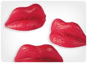 old school candy wax lips ... absolutely disgusting at first then pleasantly yummy! :)