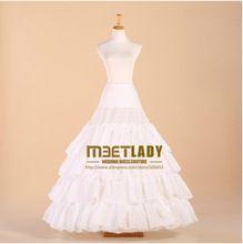 Gratis Verzending 2017 Nieuwe A-lijn 4 Lagen Bridal Petticoat Crinoline Onderrok Bruiloft Accessoires Voor Trouwjurk ZY1042(China (Mainland))