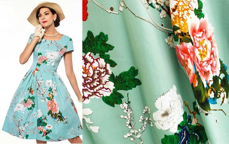 Ретро стиль в одежде - модный тренд 2017. Платья и сарафаны в ретро стиле из коттона и штапеля
