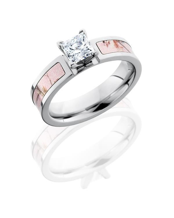 Pink Camo Engagement Ring by Lashbrook Designs
