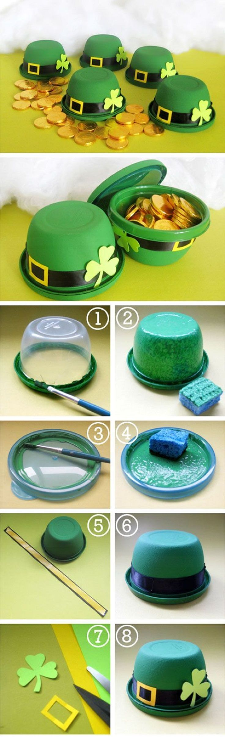 St. Patrick's Day Hat Favors - 15 Irish-Themed DIY St. Patrick's Day Decorations and Crafts for Kids