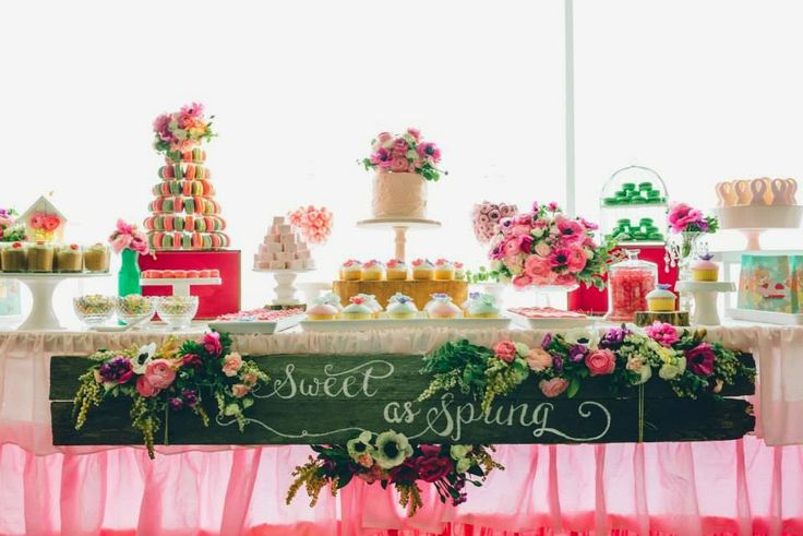 Party Inspirations: {Sweet as Spring Dessert Table for Breast Cancer Awareness} by Sugar Coated Mama