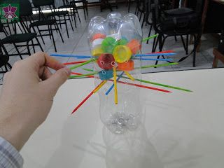 DIY game for kids from recycled bottles