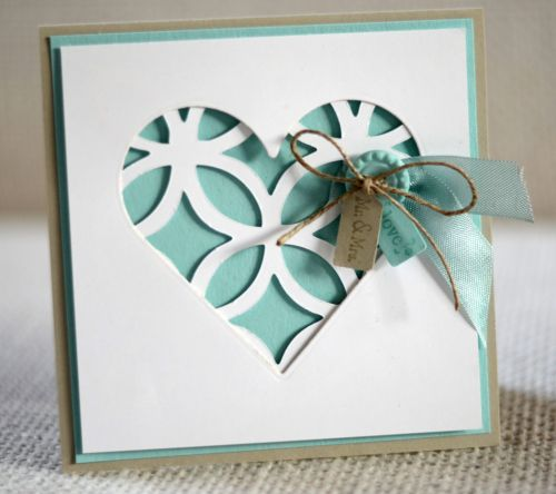 Sweet Lacy Heart Card...Stampin' UP!