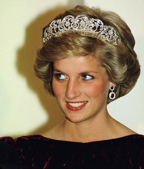 Princess Diana wearing a Spencer family Tiara | World ...