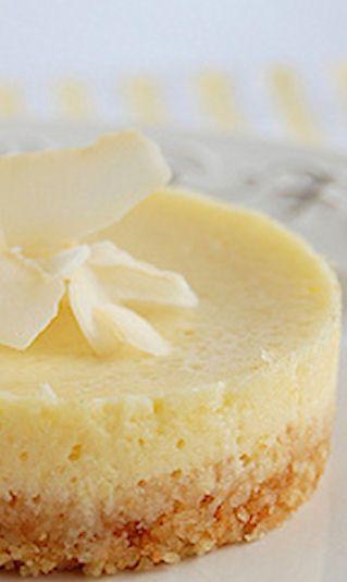 Lemon Coconut Mini Cheesecakes