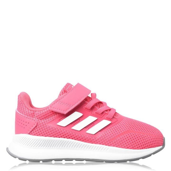 adidas Falcon CF Infant Girls Trainers - Pink/White in 2021 ...