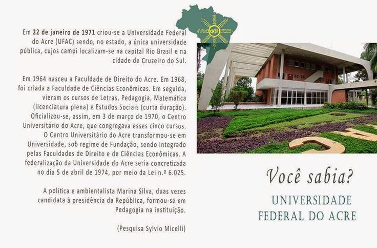 #CNSPNotícias - Você sabia? - 22 de janeiro de 2015 - A criação da Universidade Federal do Acre ~ Jornalista Sylvio Micelli