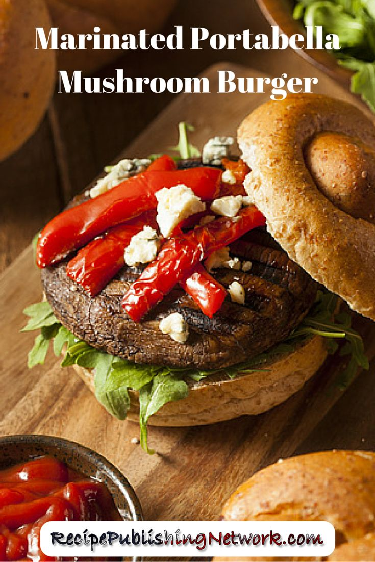 Portabella mushroom burgers are especially good with mozzarella or blue cheese like in this recipe and aioli, though you can serve with any burger trimmings of your choice.