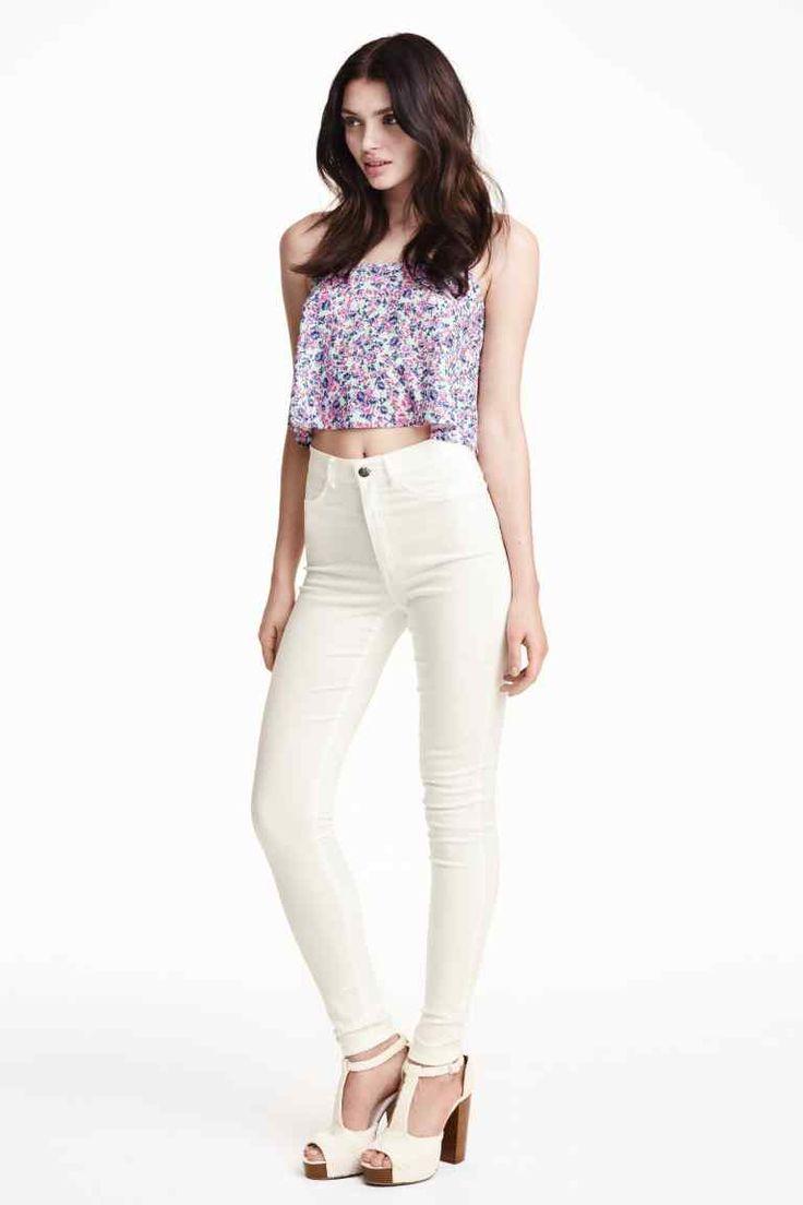 les 25 meilleures id es concernant pantalon blanc taille haute sur pinterest pantalon taille. Black Bedroom Furniture Sets. Home Design Ideas