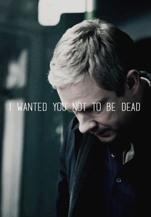 """I wanted you not to be dead. """" ya well, be careful what you wish for because If i hadnt come back and you wouldnt be standing there and you would still have a future with mary."""" : '( #Sherlock"""