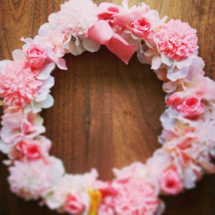ピンクの花冠♪手作りしたいにゃー
