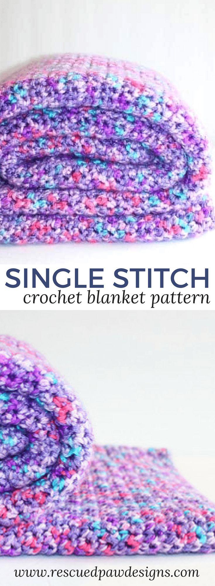 Padrão de Cobertor de Crochê Único de Elise