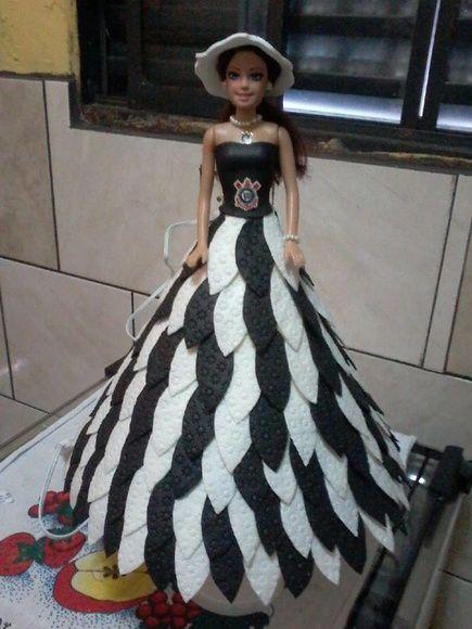 boneca abajur